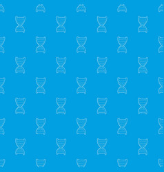 dna strand pattern seamless blue vector image