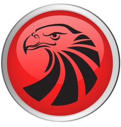 Eagle head button vector