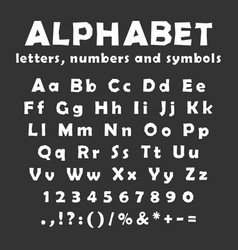 English alphabet uppercase and lowercase letters vector