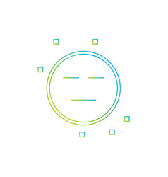 expressionless emoji icon vector image