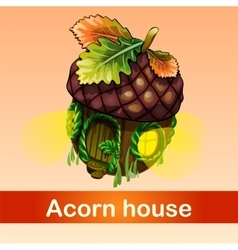 fabulous house of acorn vector image