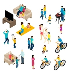 Family Isometric Set vector