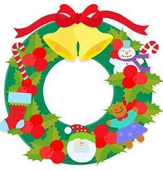 fantastic wreath vector image