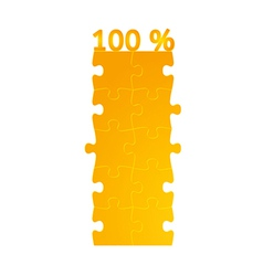 Field of puzzles with 100 on the top vector