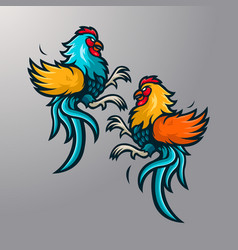 fighting cocks vector image