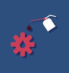 Flat icon design collection gear and oil in vector