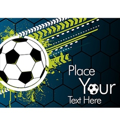 Football banner on a green background vector image