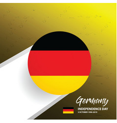 germany independence day background vector image