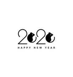 happy new year 2020 logo icon banner design vector image