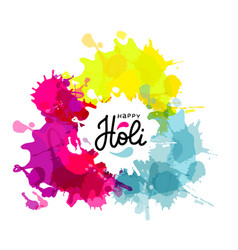 holi spring festival colors design vector image