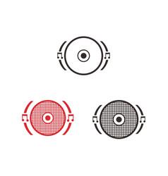 Icon music speaker audio vector