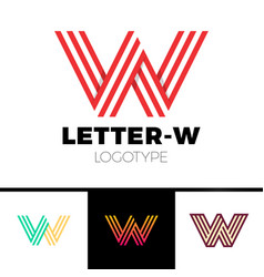 impossible shape letter w logo design template vector image