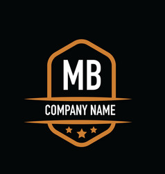 Initial letter mb vintage logo concept graphic vector