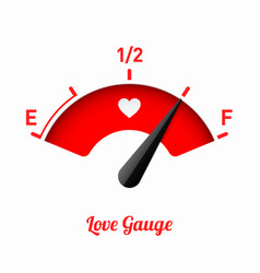 love gauge valentines day card design element vector image