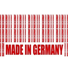Made in Germany text and bar code from same words vector