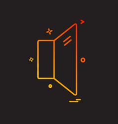 mute icon design vector image