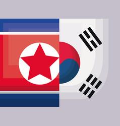 North korea design vector