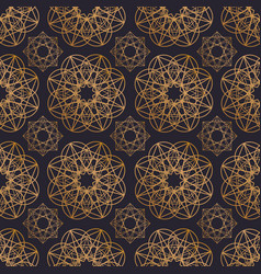 oriental seamless pattern with round geometric vector image