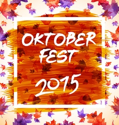 Patch with checkered pattern and text Oktoberfest vector