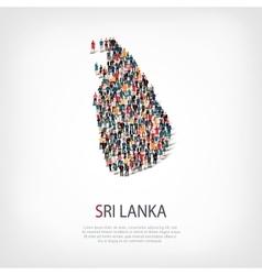 People map country Sri Lanka vector