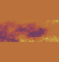 polygon background purple and light orange wide vector image