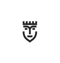 queen head logo portrait lady in crown vector image