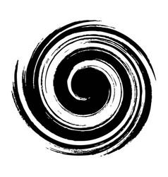 radial spiral burst black star spiral explosion vector image