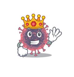 Royal king microbiology coronavirus with crown vector