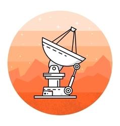 Satellite dishes on the white background vector image