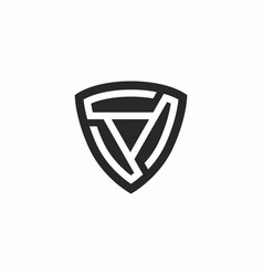 Shield technology icon logo vector