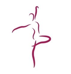Sketched dancing woman vector image