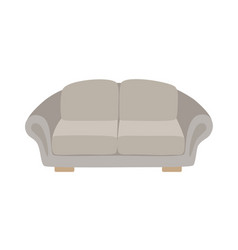 Sofa and couch gray colorful cartoon vector