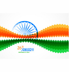 stylish abstract indian flag design for republic vector image
