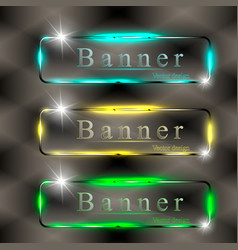 Transparent banner vector