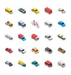 transport flat icons vector image