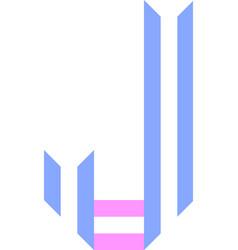 Trendy font alphabet from paper tape letter vector