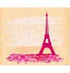 Vintage retro Eiffel card vector