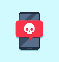 virus notification on smartphone screen alert vector image