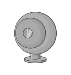 Webcam icon black monochrome style vector