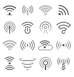 wifi logo elements wireless technology vector image