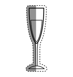 Wine glass cup vector image