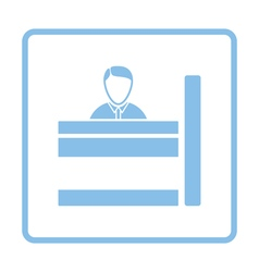 Bank clerk icon vector image vector image