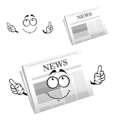 Cartoon weekly newspaper with header vector image