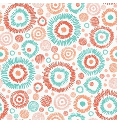 Doodle textured circles seamless pattern vector image vector image