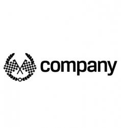 finish flag logo vector image vector image