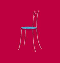 flat shading style icon chair vector image vector image