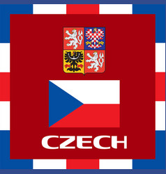 official government ensigns of czech vector image vector image