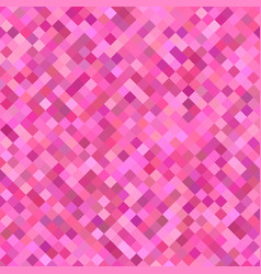 Pink diagonal square pattern background - vector