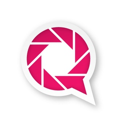 Pink photography logo vector image vector image