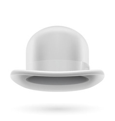 White bowler hat vector image vector image